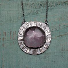 Amethyst Sun Necklace by MUSIBATTY on Etsy