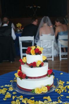 Wedding, Cake, Red, Blue, Yellow, Branching out cakes