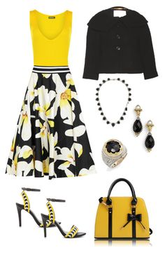 """""""Floral Fancy"""" by karen-galves ❤ liked on Polyvore featuring WearAll, Alice + Olivia, ALDO, L.K.Bennett and Konstantino"""