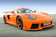 Orange Koenigseder Porsche Carrera GT 2009