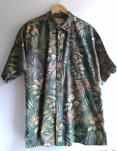 95f4d38f Hawaiian Shirt 2 XL Cooke Street Honolulu Men's GREEN 2XL Short Sleeve VINTAGE  Shirt Tropical Leaves on Dark Green