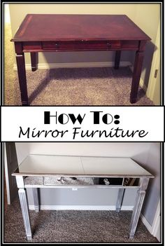 Step by Step How TO of adding Mirror to an old desk DIY
