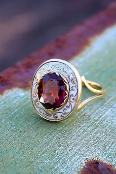 Engagement Rings : Picture Description 33 Sophisticated Vintage Engagement Rings To Prove Your Love ❤️ vintage engagement rings ruby round cut halo yellow Wedding Rings Vintage, Vintage Engagement Rings, Vintage Rings, Ring Engagement, Jewelry Rings, Jewelery, Fine Jewelry, Hair Jewellery, Diamond Jewellery