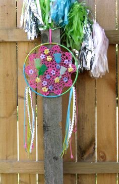 Colorful Dreamcatcher with Flowers