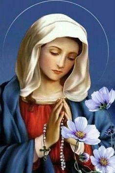 Mother Teresa Prayer, Jesus Mother, Blessed Mother Mary, Blessed Virgin Mary, Mother Mary Images, Images Of Mary, Angel Pictures, Jesus Pictures, Catholic Saints