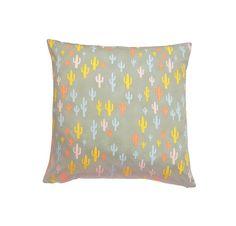 Cactus Print Cushion Cover Cactus Pillow by MirraDesignStudio