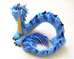 Blue Oriental Dragon by DragonsAndBeasties.deviantart.com on @deviantART