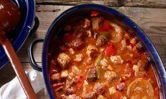 Pfundstopf Rezept: Eine Ofensuppe mit Fleisch und Paprika für Gäste - Eins von 5.000 leckeren, gelingsicheren Rezepten von Dr. Oetker!