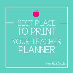 Teacher Planner and