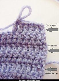 le Crochet de Pandore: Tuto : remplacer les mailles en l'air pour tourner en début de rang (technique 1)