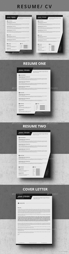 CV Word Ai illustrator, Cv template and Modern resume - easy resumes