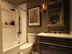 bathroom - featured in a remodeled Craftsman in the Meyerland area of Houston, TX.