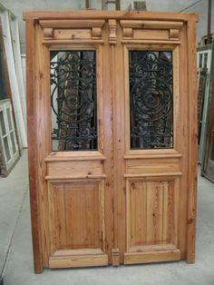 Puerta de entrada cod 2616 puerta de frente de madera for Demoliciones puertas antiguas