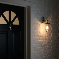 Buy Montparnasse Outdoor Wall Light, Polished Nickel Online at johnlewis.com