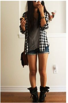 LOVE this effortless look... great idea!! need boots like them to pull it off and im golden