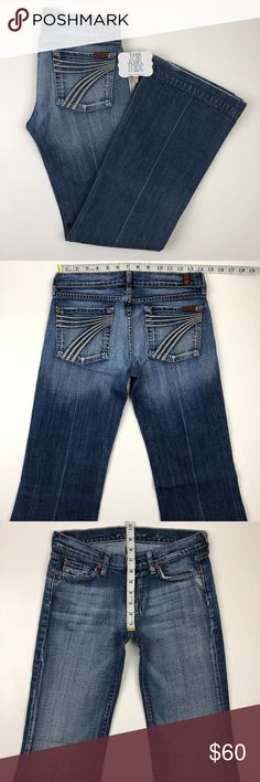 7feee8cc63e36 7 for all mankind dojo flare jeans 27x31 7 for all mankind dojo flare jeans  27x31