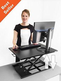 X-ELITE PRO Height Adjustable Sit / Stand Desk - Converts...