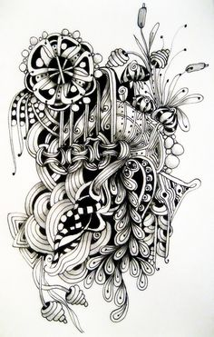 Love her Zentangles ...shading is awesome!