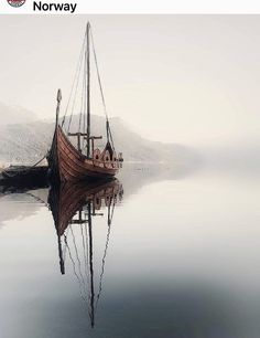 Norway Nature, Scandinavian Countries, Tumblr, Norse Mythology, Outdoor Furniture, Outdoor Decor, Sailing Ships, Hammock, Brown And Grey
