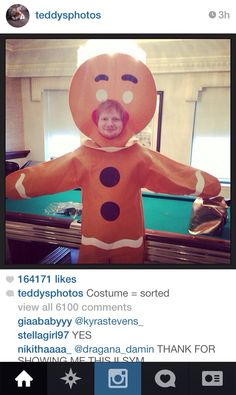 The GINGERbread man. I see what you did there, Ed. I see what you did there. ;) -H