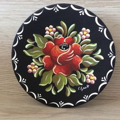 Decorative Painting Projects, Tole Painting Patterns, Folk Art Flowers, Flower Art, Fabric Painting, Painting On Wood, Donna Dewberry Painting, Norwegian Rosemaling, Watercolor Paintings For Beginners