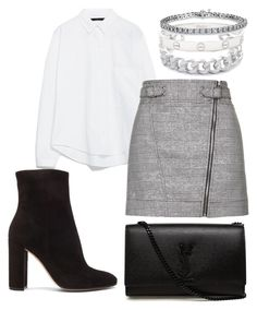 """""""Untitled #161"""" by alicemidge ❤ liked on Polyvore featuring Gemma Redux, Zara, Topshop, Gianvito Rossi, Yves Saint Laurent and Cartier"""