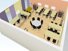classroom design concept for small room