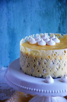 Dream Cake, Fashion Cakes, Mousse Cake, Meringue, Cake Designs, Vanilla Cake, Healthy Snacks, Panna Cotta, Food And Drink