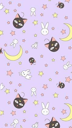 Sailor Moon Luna P wallpaper Sailor Moon S, Sailor Moon Blanket, Sailor Moon Crystal, Sailor Venus, Sailor Mars, Sailor Neptune, Sailor Jupiter, Chat Kawaii, Manga Kawaii