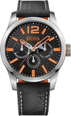 96f7cf7b254 Boss Orange Men s Watch Paris Multieye Analog Quartz Leather 1513228  Watches For Men
