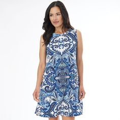 Women's AB Studio Scroll Shift Dress, Size: 10, Ovrfl Oth