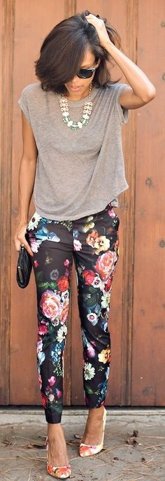 Another example of floral pants that I like.