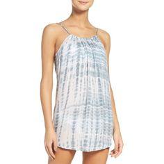 Women's Acacia Swimwear Cover-Up Dress ($110) ❤ liked on Polyvore featuring swimwear, cover-ups, shibori, swim cover up, summer cover ups, summer swimwear, tie dye swim cover up and tie dye swimwear