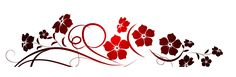 K--Red Flowers Decoration PNG Clipart