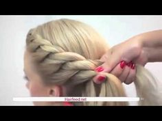Four Strand Waterfall Braid with Annie's Forget Me Knots - YouTube