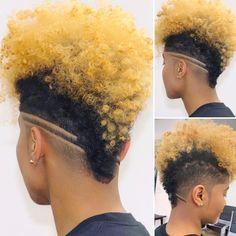 Natural Hair Haircuts, Natural Hair Short Cuts, Pixie Haircut For Thick Hair, Tapered Natural Hair, Short Hair Undercut, Edgy Haircuts, Undercut Hairstyles, Natural Hair Styles, Curly Mohawk