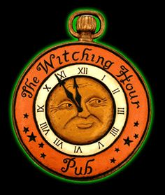 The Witching Hour Pub Hanging Sign