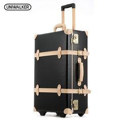 6fa027b31a547 20 22 24 inches Cow Leather Trolley Bags Men Travel Hand Luggage Rod Box  Fashion Waterproof