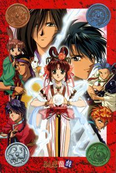Miaka, Tamahome, Hotohori, Chichiri, Tasuki, Chriko, Nuriko and Mitsukake