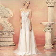 Buy 'Angel Bridal � Paneled Rosette A-Line Wedding Dresses' with Free International Shipping at YesStyle.com. Browse and shop for thousands of Asian fashion items from China and more!
