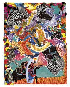 Artwork page for 'Juam', Frank Stella, 1997 Frank Stella, Stella Art, Victor Brauner, Artistic Fashion Photography, Instalation Art, Unusual Art, Textiles, Mary Katrantzou, Print Artist