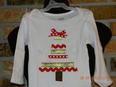 Ribbon Christmas Tree Shirt by treasures638 on Etsy, $15.50