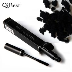 Qibest Black Dry Fiber 3d Curling Thick Eye Lashes Waterproof Fiber Used With Mascara Makeup Curving Eyelashes Rimel Comestics