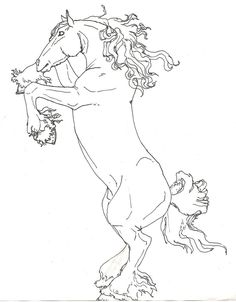 Draft horse - Coloring Pages & Pictures - IMAGIXS