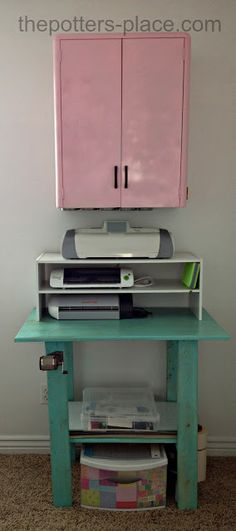 Craft Room Organization. Designed for a small space and inexpensive! Right for me!