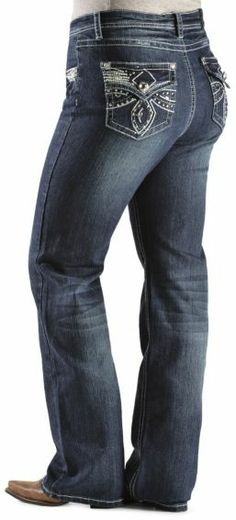 Grace in LA Blue Jeans Denim Boot Cut Plus Size 17 19 Rhinestone ...