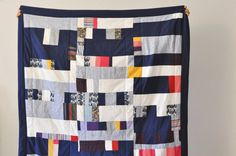 Not sure about the design, but these colors are fantastic for a nautical nursery or a drag around / stroller quilt