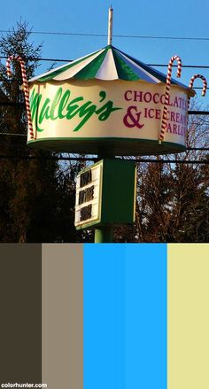 Malley's Chocolates And Ice Cream North Olmsted Color Scheme - My family has celebrated happy events here since I was a child.  This store has ice cream in addition to chocolate.