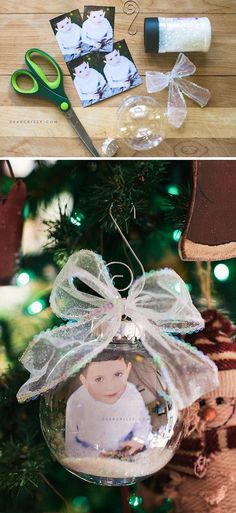 DIY Christmas Photo Ornament.
