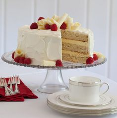 Buttermilk adds tangy flavor to every aspect of this layer cake. Rich and moist, this buttermilk cake is a favorite for any occasion. Holiday Desserts, Just Desserts, Delicious Desserts, Sweet Desserts, Dessert Recipes, Layer Cake Recipes, Frosting Recipes, Layer Cakes, Vanilla Buttermilk Cake